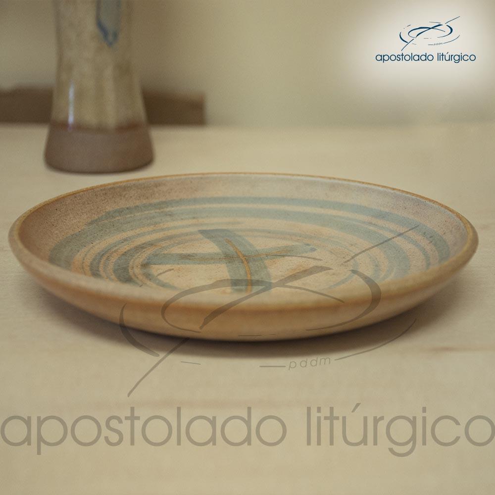 Patena Mel com Azul Grande 1 | Apostolado Litúrgico Brasil