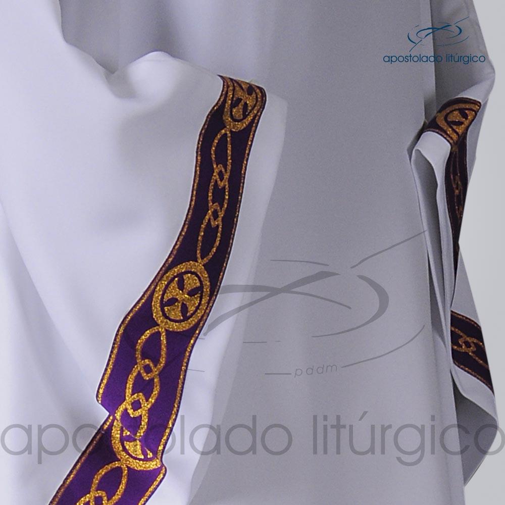 Veste Galao Estreito 11 Roxa Arredondado Branca Galao COD 3362 | Apostolado Litúrgico Brasil