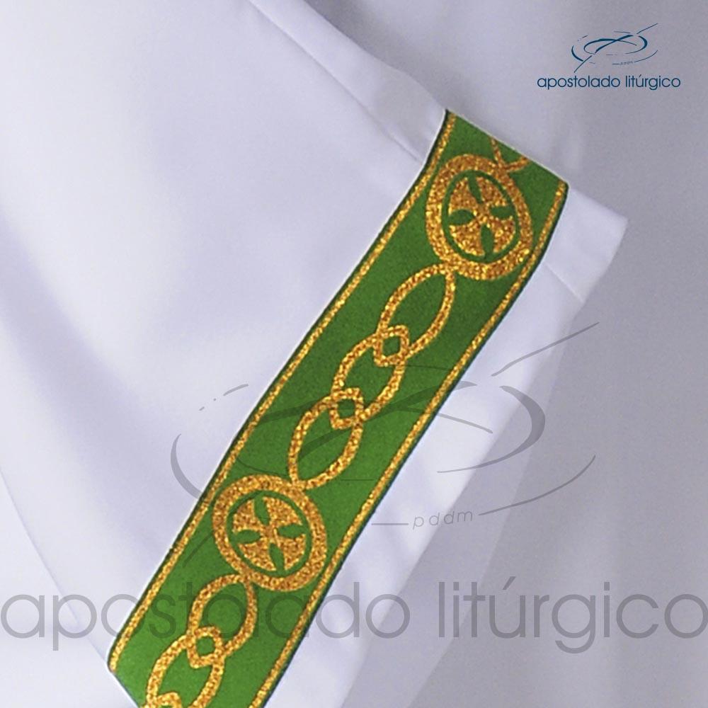 Veste Galao Estreito 11 Verde Arredondado Branca Galao COD 3362 | Apostolado Litúrgico Brasil