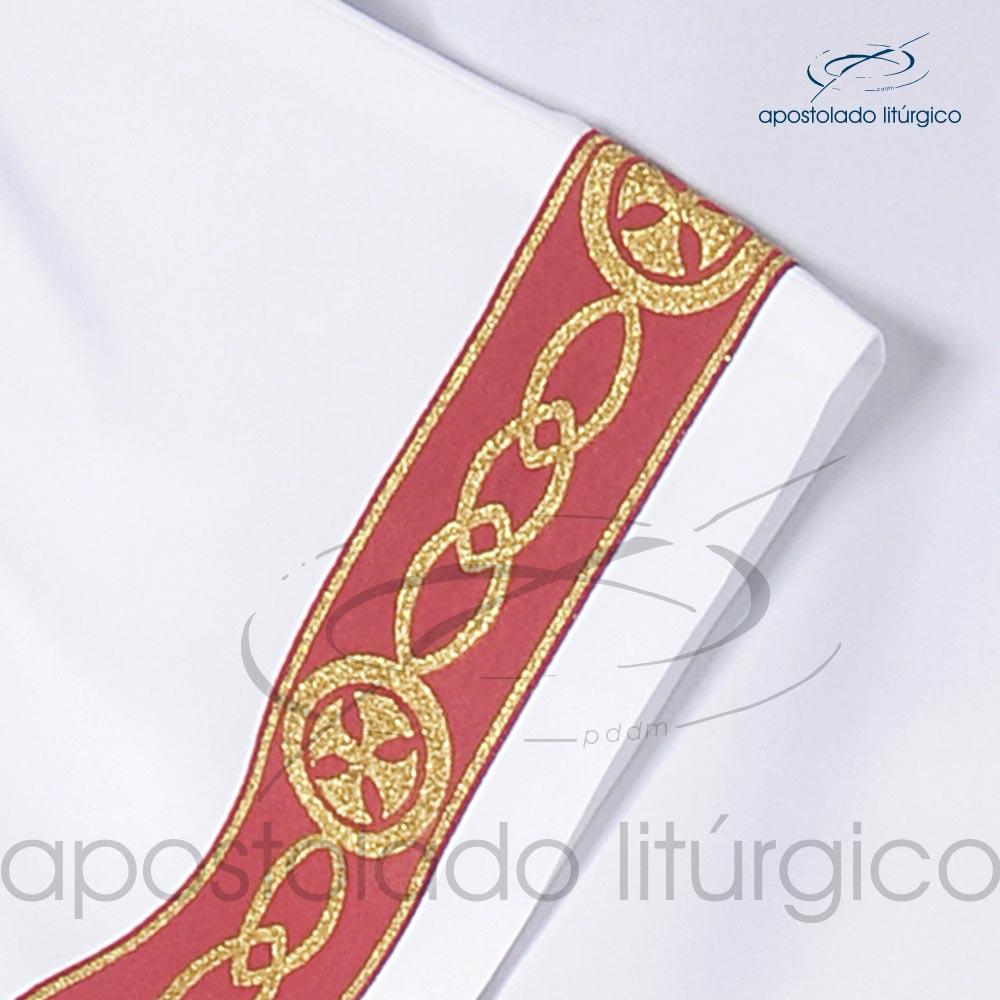 Veste Galao Estreito 11 Vermelha Arredondado Branca Galao COD 3362 | Apostolado Litúrgico Brasil