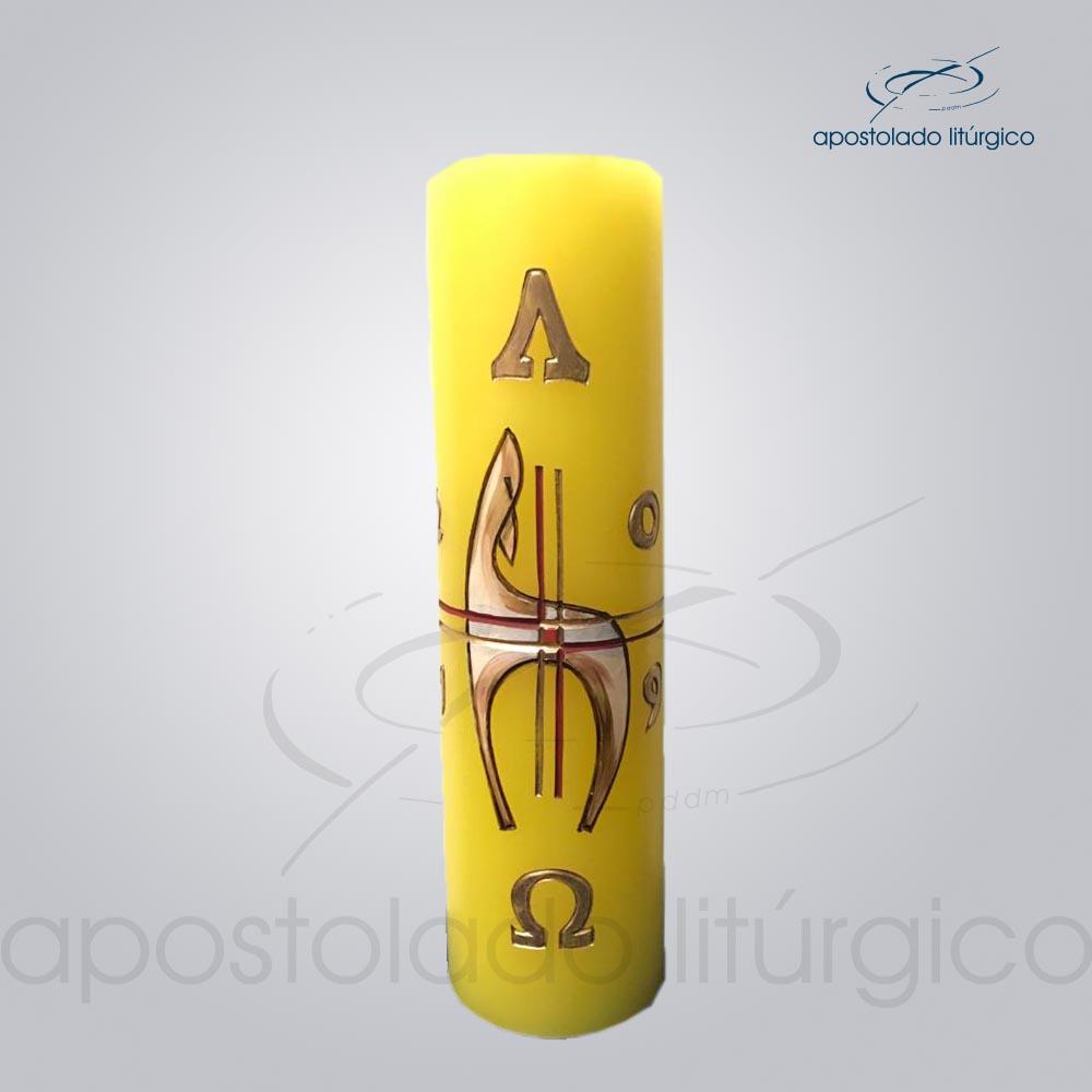 Círio Pascal 28x8 cód 9340 | Apostolado Litúrgico Brasil