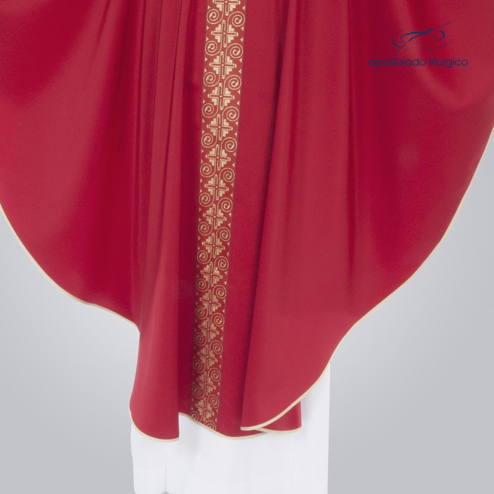Casula Oxford Galão Largo 9 Vermelha corpo cod 3359 | Apostolado Litúrgico Brasil