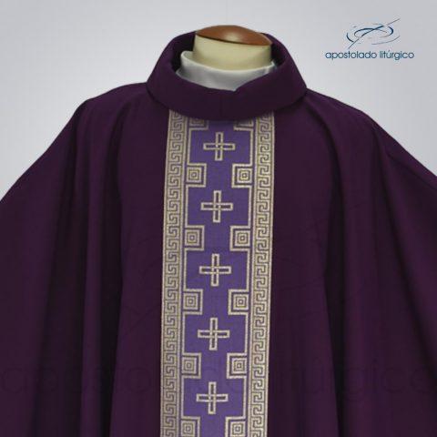 Casula oxford roxa cruz FRENTE COD 1490-DETALHE