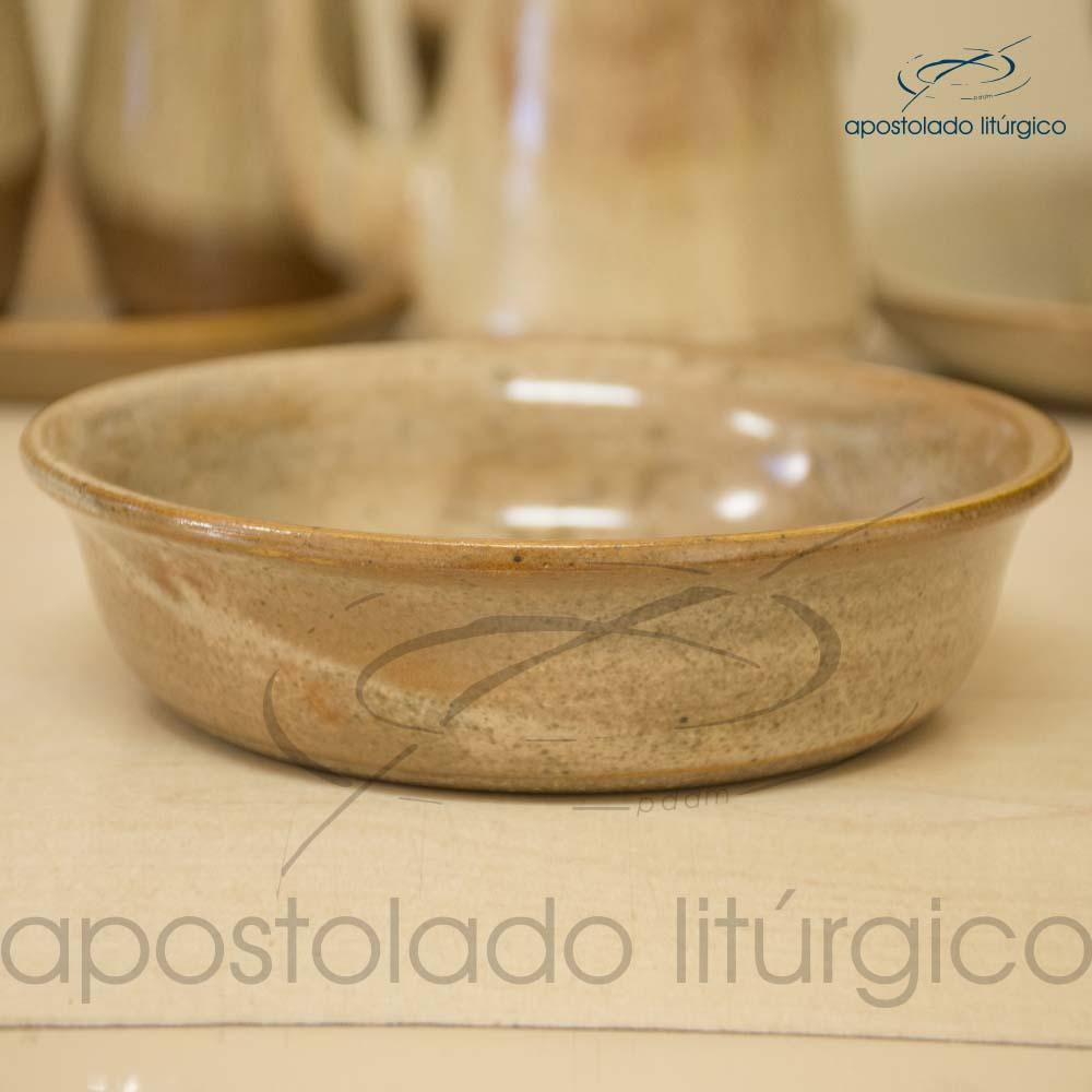 Conjunto de Celebracao Mel com Marrom Bacia Lateral | Apostolado Litúrgico Brasil