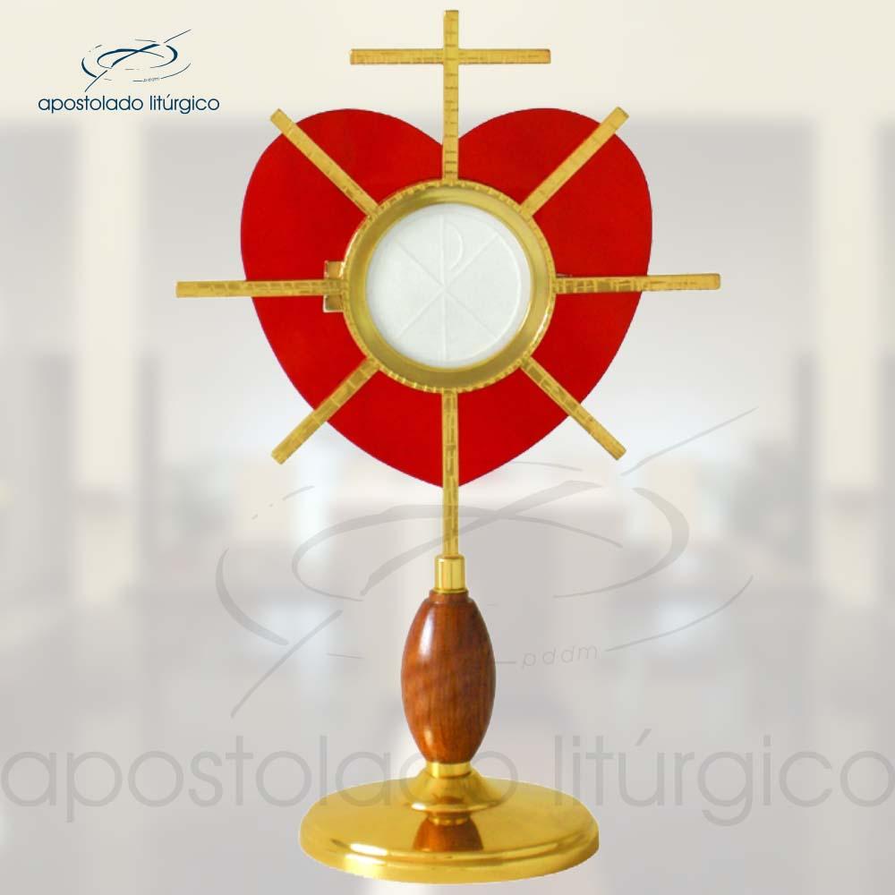 Ostensorio Coracao Ref 632 | Apostolado Litúrgico Brasil