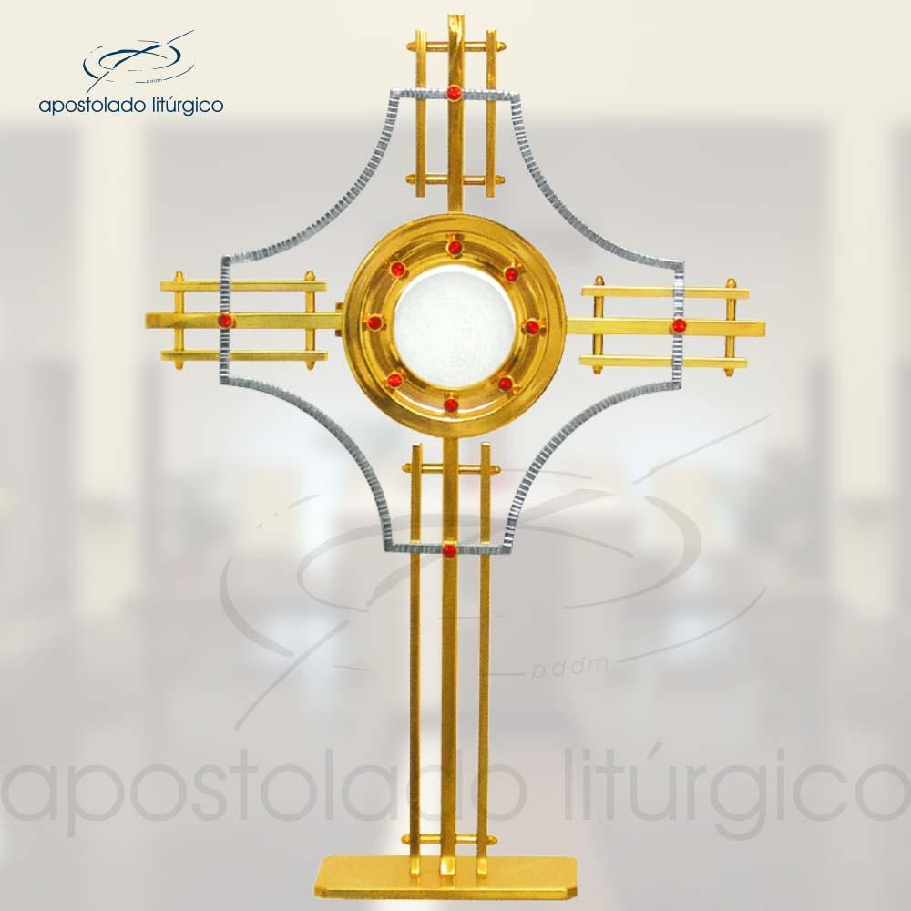 Ostensorio Cruz Ref 50 | Apostolado Litúrgico Brasil