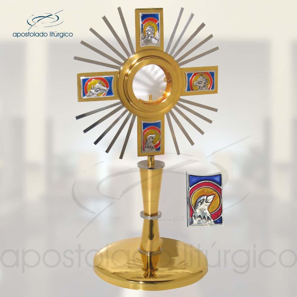 Ostensorio Evangelistas Ref 640 | Apostolado Litúrgico Brasil