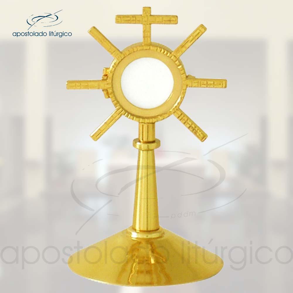 Ostensorio Hostia Pequena Ref 642 | Apostolado Litúrgico Brasil