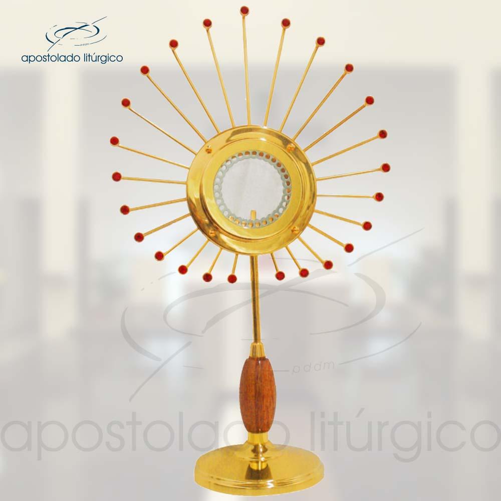 Ostensorio Pavao Ref 641 | Apostolado Litúrgico Brasil