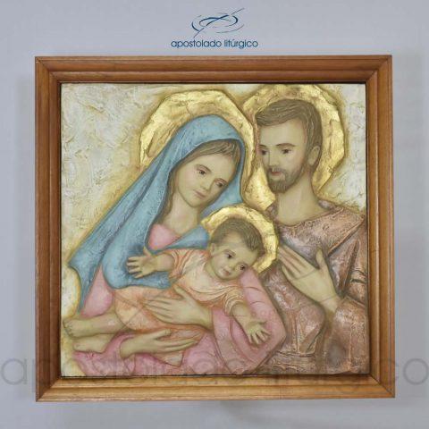 Quadro Sagrada Família com Moldura Clara 49x47cm - 4145 [Quadro]