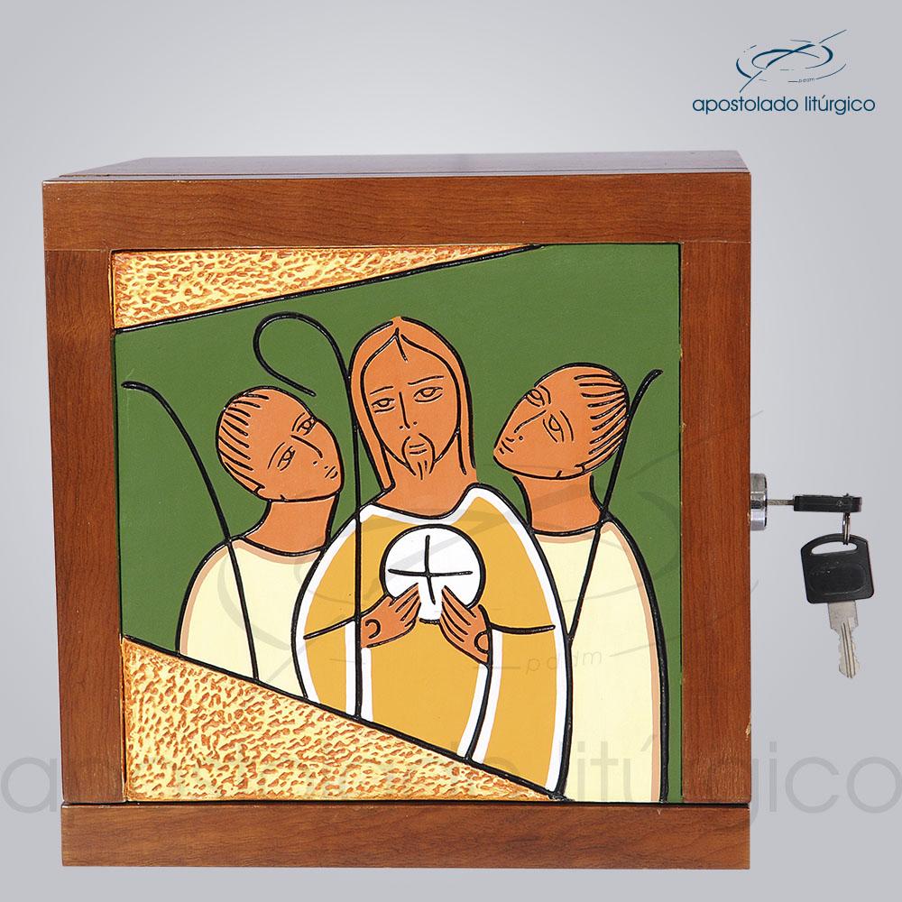 Sacrario Emaus Caminho Pequeno 22x22x20cm Frente - COD 4027