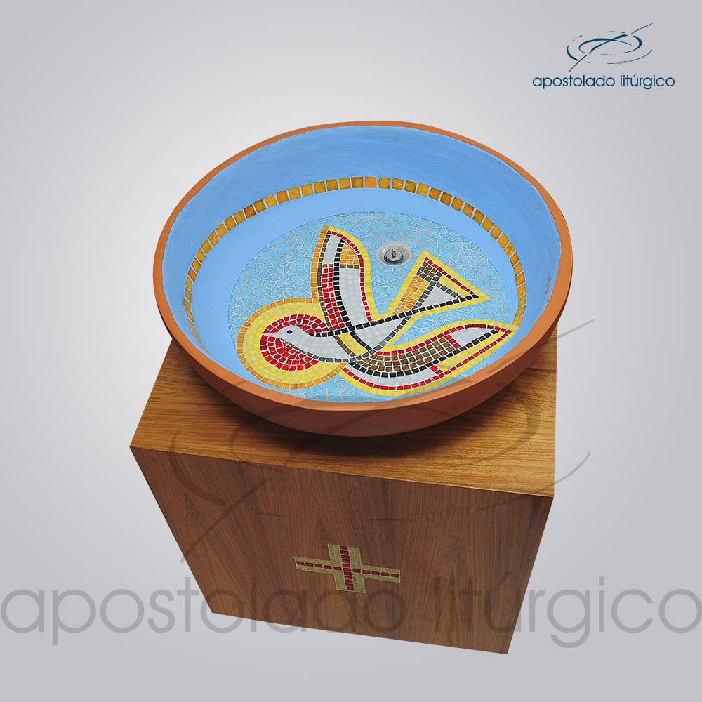 Suporte Madeira 70X60X60 cm Visto de Cima | Apostolado Litúrgico Brasil
