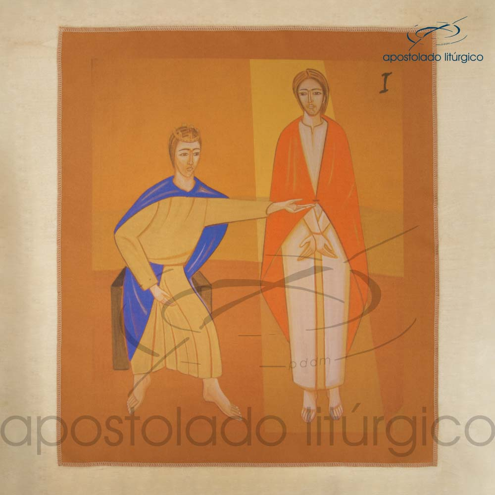 Via Sacra Estampada Estacao 01 | Apostolado Litúrgico Brasil