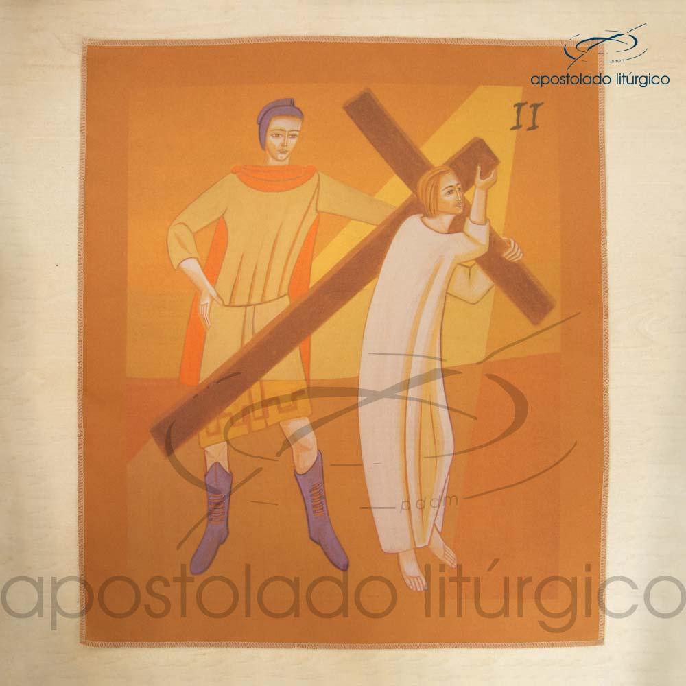 Via Sacra Estampada Estacao 02 | Apostolado Litúrgico Brasil