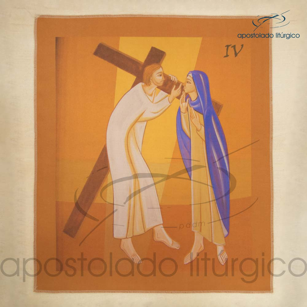 Via Sacra Estampada Estacao 04 | Apostolado Litúrgico Brasil