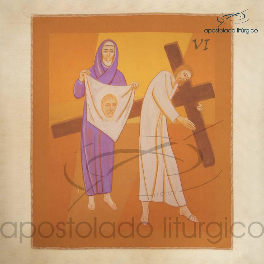 Via Sacra Estampada Estacao 06 | Apostolado Litúrgico Brasil