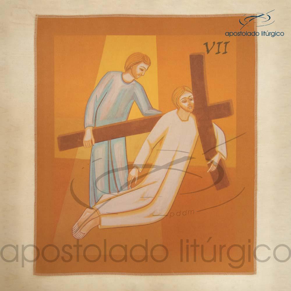 Via Sacra Estampada Estacao 07 | Apostolado Litúrgico Brasil
