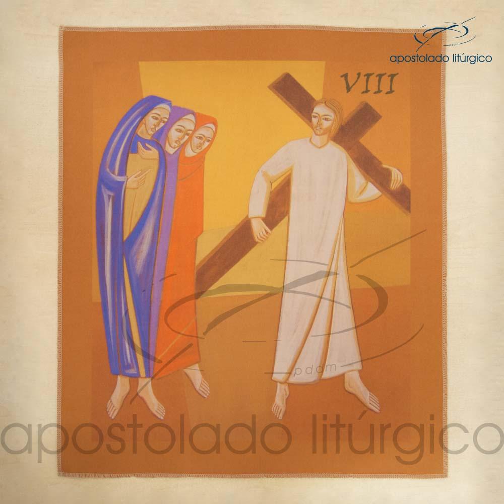 Via Sacra Estampada Estacao 08 | Apostolado Litúrgico Brasil