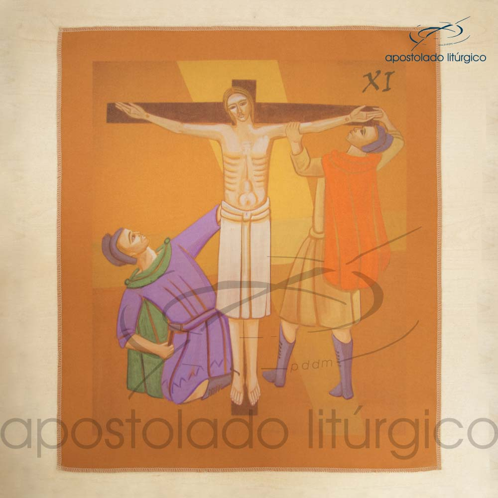 Via Sacra Estampada Estacao 11 | Apostolado Litúrgico Brasil