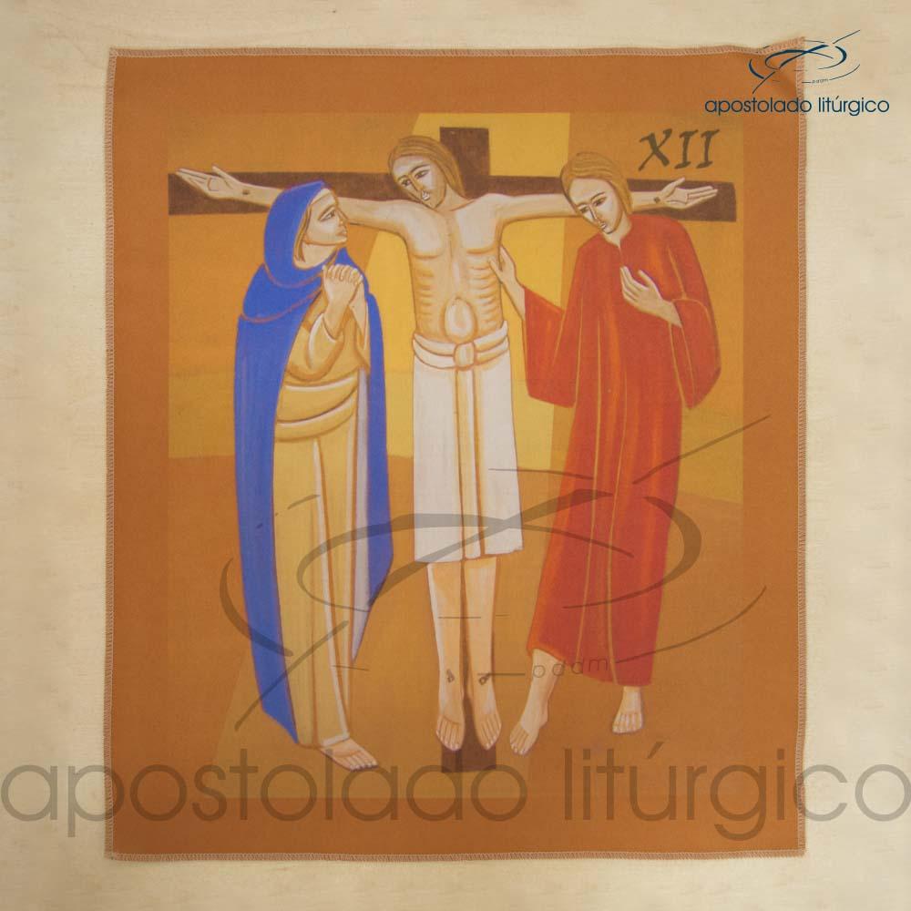 Via Sacra Estampada Estacao 12 | Apostolado Litúrgico Brasil