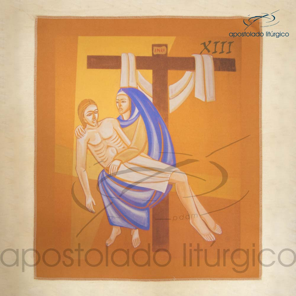 Via Sacra Estampada Estacao 13 | Apostolado Litúrgico Brasil