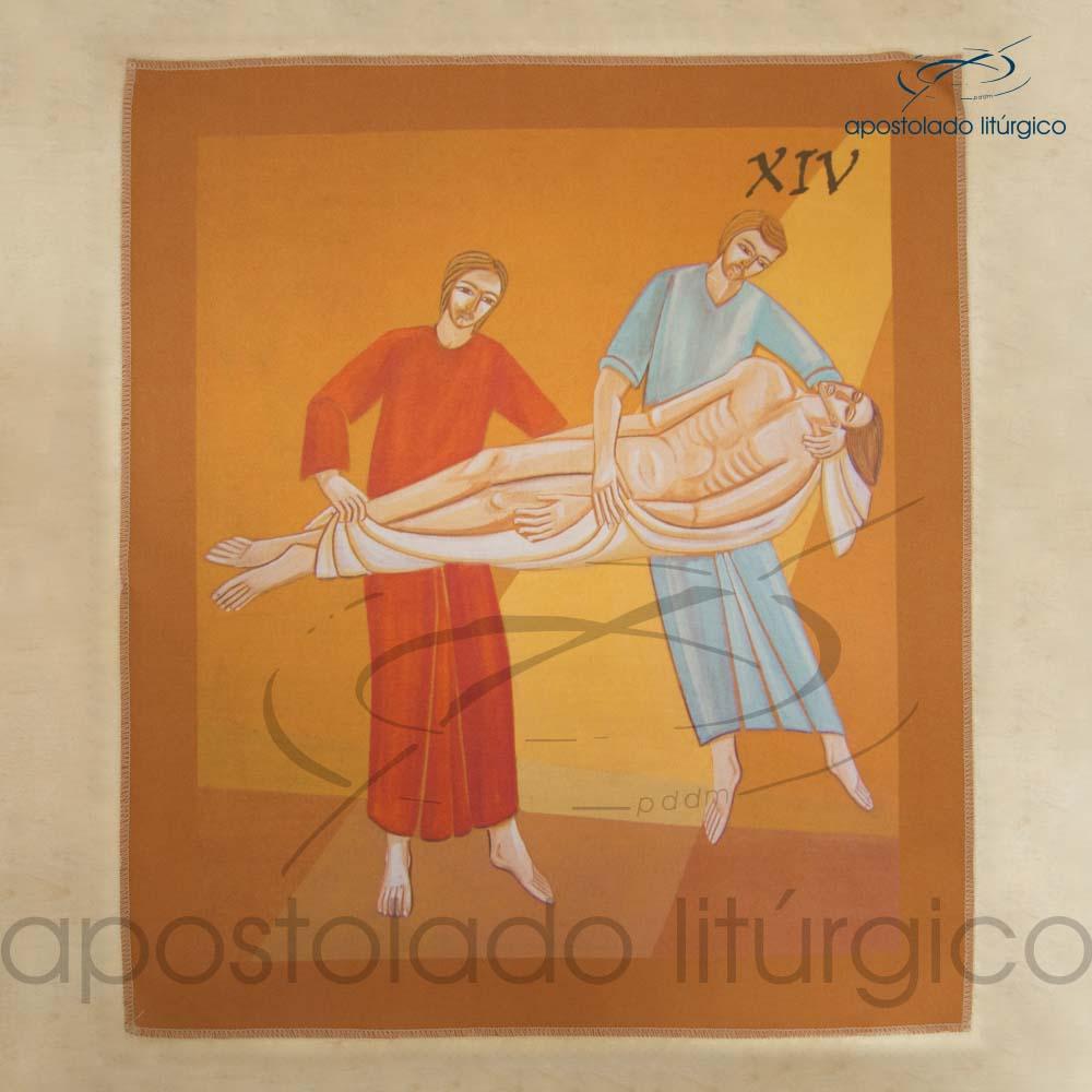 Via Sacra Estampada Estacao 14 | Apostolado Litúrgico Brasil