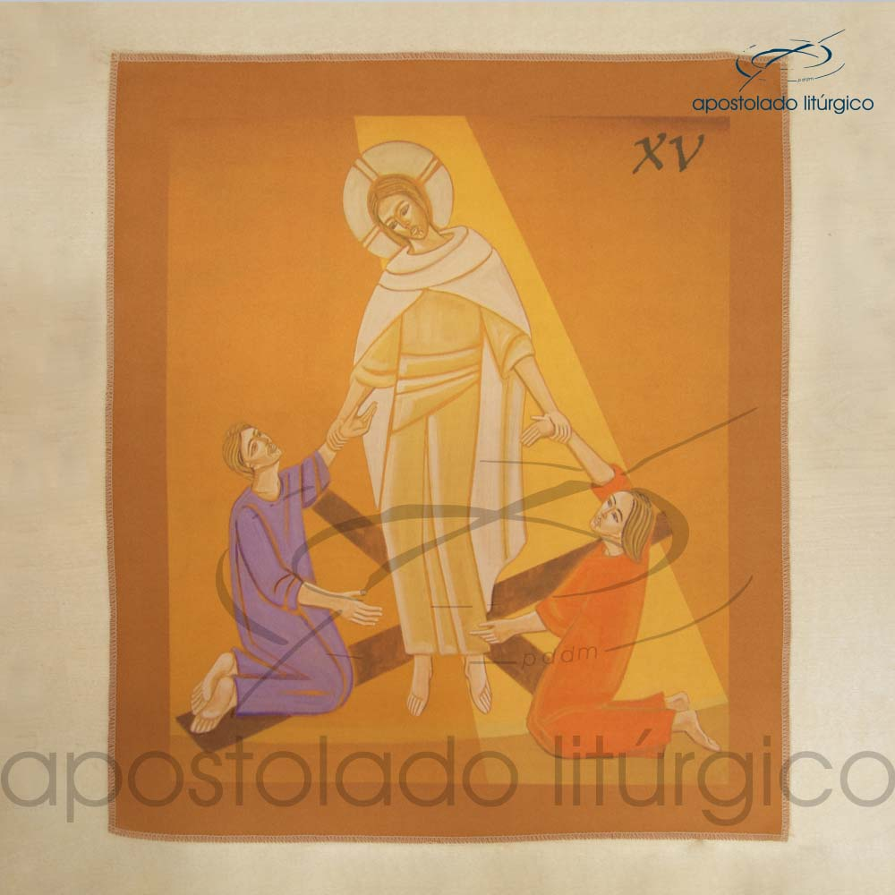 Via Sacra Estampada Estacao 15 | Apostolado Litúrgico Brasil