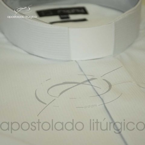 Camisa Easy Care Marca D'agua Branca Gola