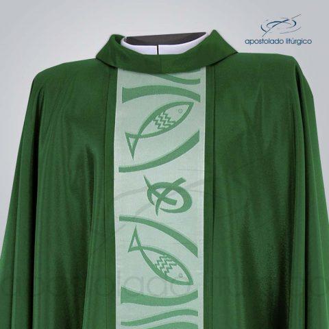 Casula Oxford Galao Peixe e Pao 2 Verde Frente Gola