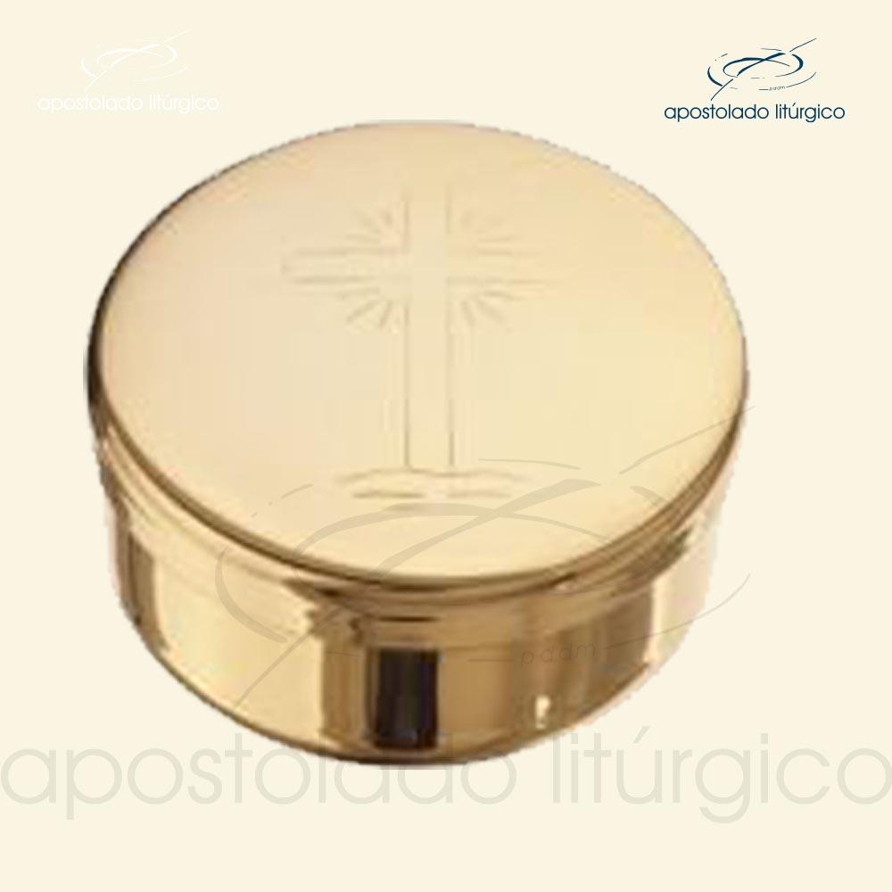 Teca dourada cod 60 apostoladoliturgico | Apostolado Litúrgico Brasil