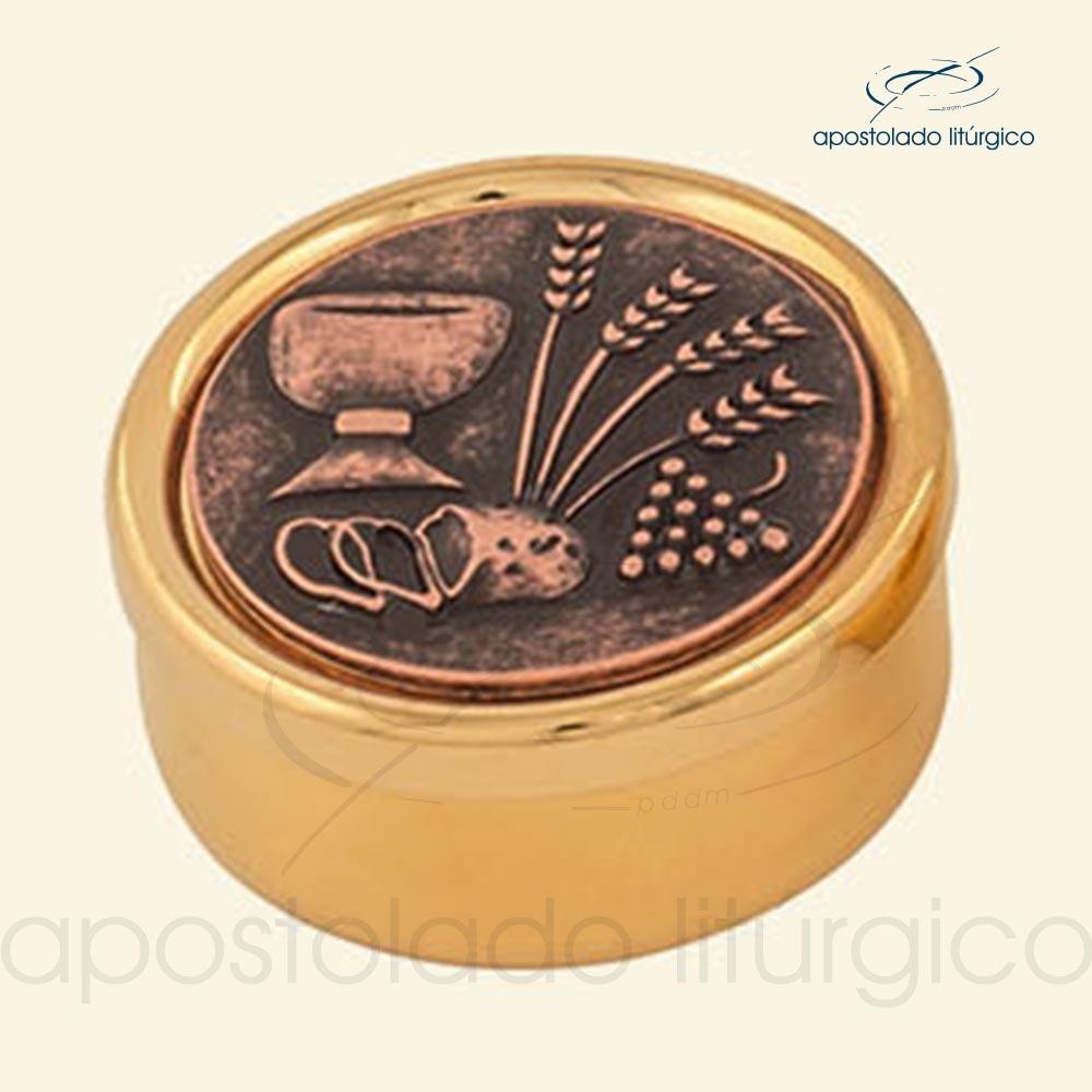 Tecas dourado total com tampa envelhecida cod 17ECDT apostoladoliturgico | Apostolado Litúrgico Brasil