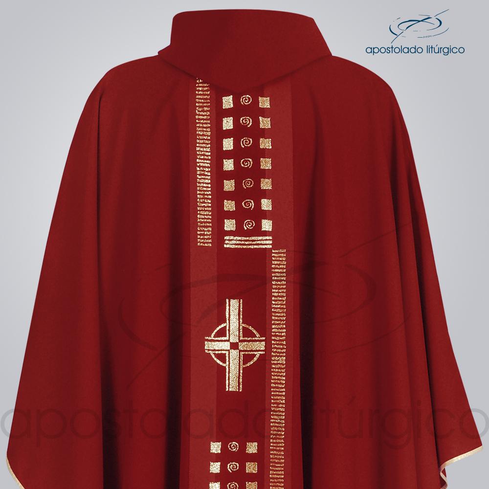 Casula Oxford Galão Cruz A Vermelha Costas Busto | Apostolado Litúrgico Brasil