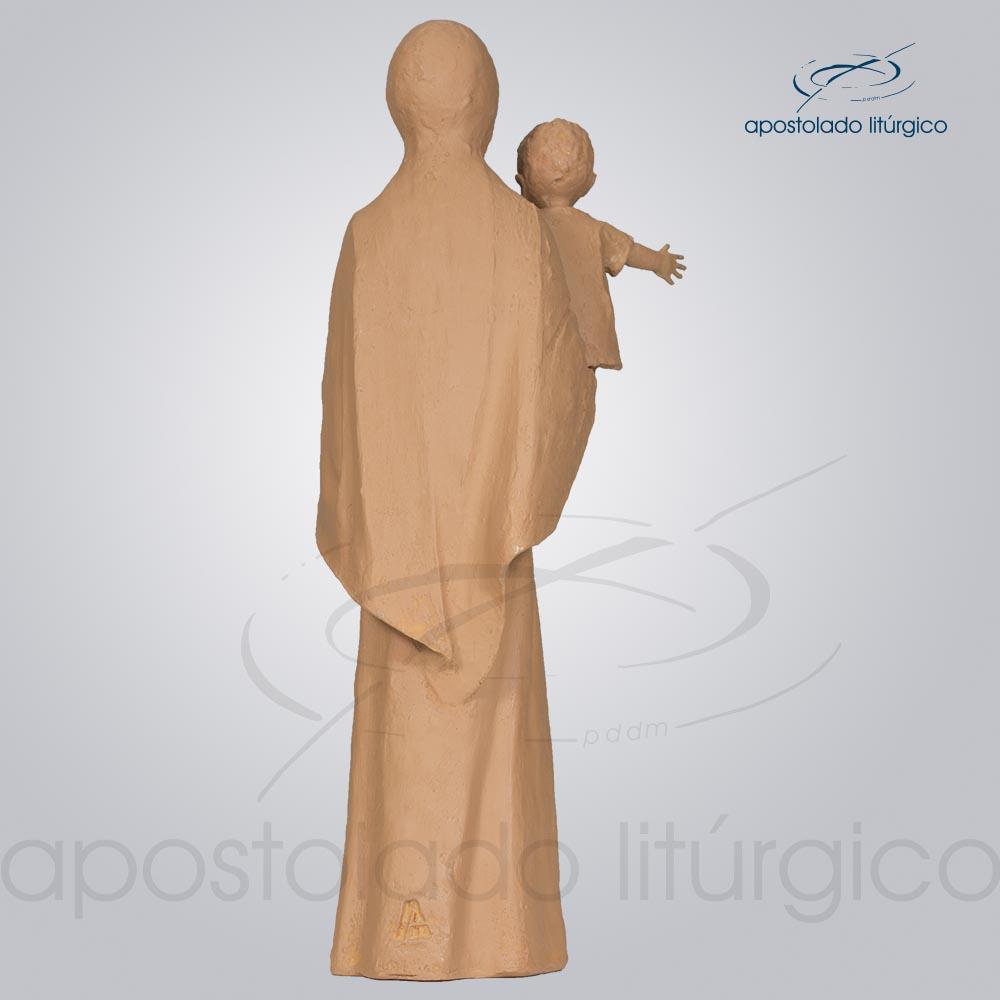 Imagem Maria do Sorriso 30 cm tom cerâmica COD 4245 costas | Apostolado Litúrgico Brasil