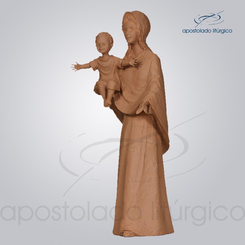 Imagem Maria do Sorriso 30 cm tom cerâmica COD 4245 lado | Apostolado Litúrgico Brasil