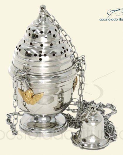 Turíbulo Niquelado Anjos Dourados REF NI-T001-N
