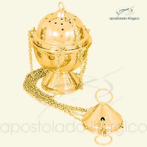 Turibulo Liso Médio Dourado Ref 3952