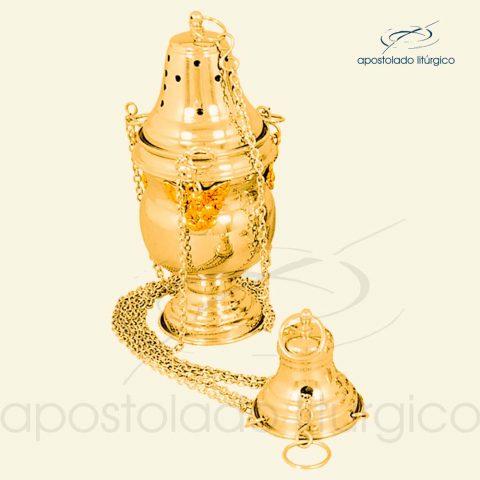 Turibulo Trabalhado Pequeno Dourado Ref 3951