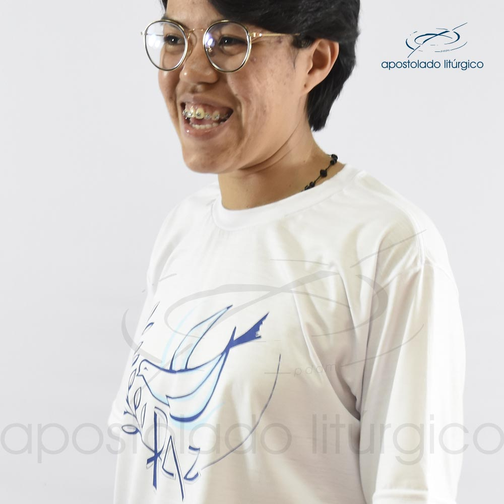 Camiseta da Paz belimar lado | Apostolado Litúrgico Brasil
