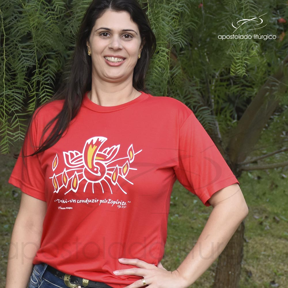 Camiseta do Espírito Santo fundo jardim | Apostolado Litúrgico Brasil