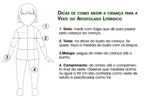 Dicas de como medir veste de criança do apostolado litúrgico | Apostolado Litúrgico Brasil