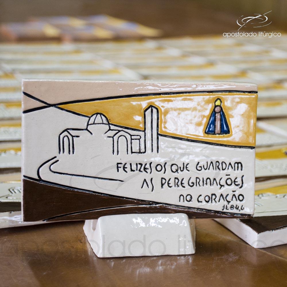 Quadro de Ceramica Felizes o que guardam cod 2799 detalhe | Apostolado Litúrgico Brasil