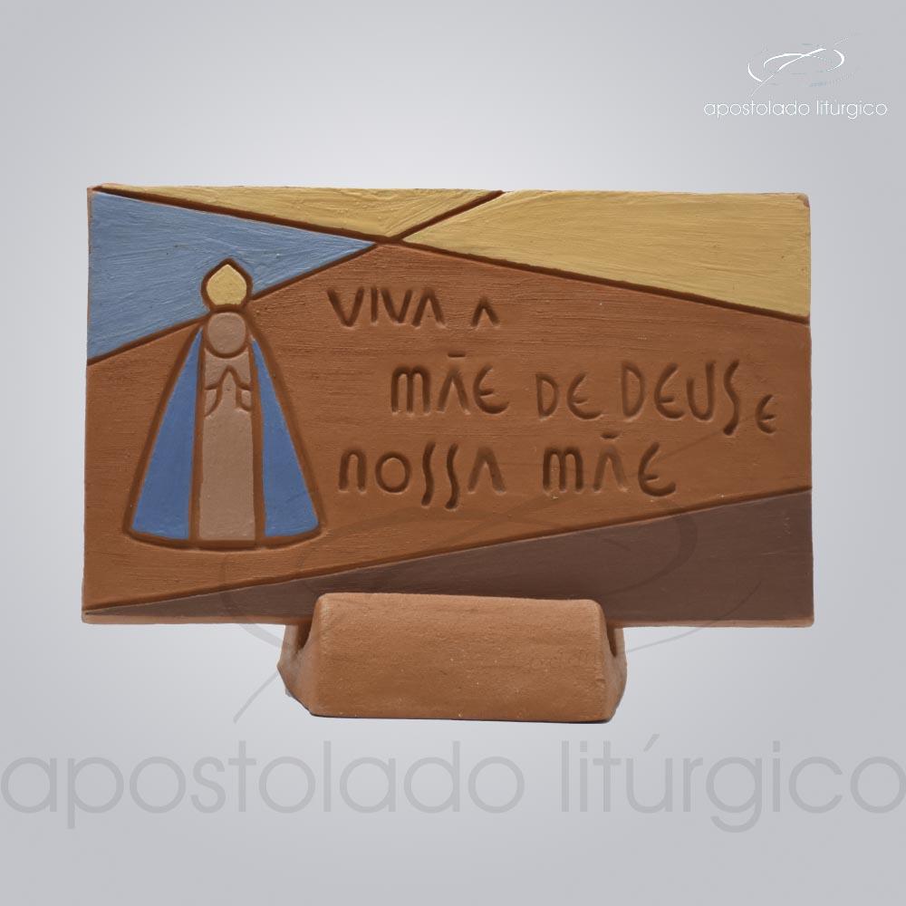 Quadro de Ceramica Viva a Mãe de Deus e Nossa codigo 2798 | Apostolado Litúrgico Brasil