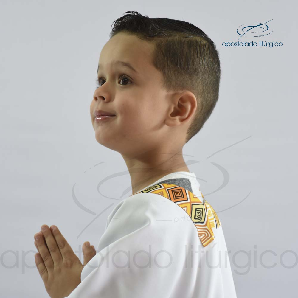 Veste para Criança Aplique 9 Gola e Manga 2 | Apostolado Litúrgico Brasil