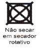 Não secar em secador rotativo