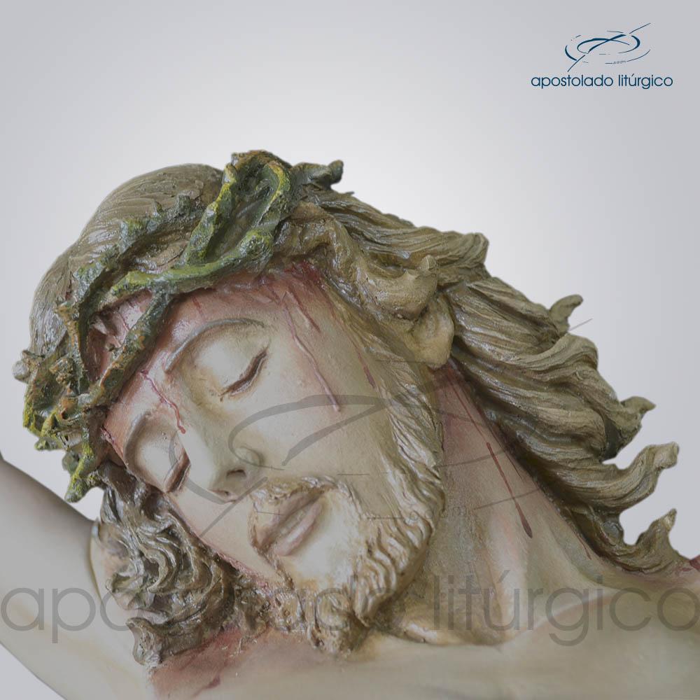 Imagem Cristo Crucificado 1 mt Sem Cruz Rosto | Apostolado Litúrgico Brasil