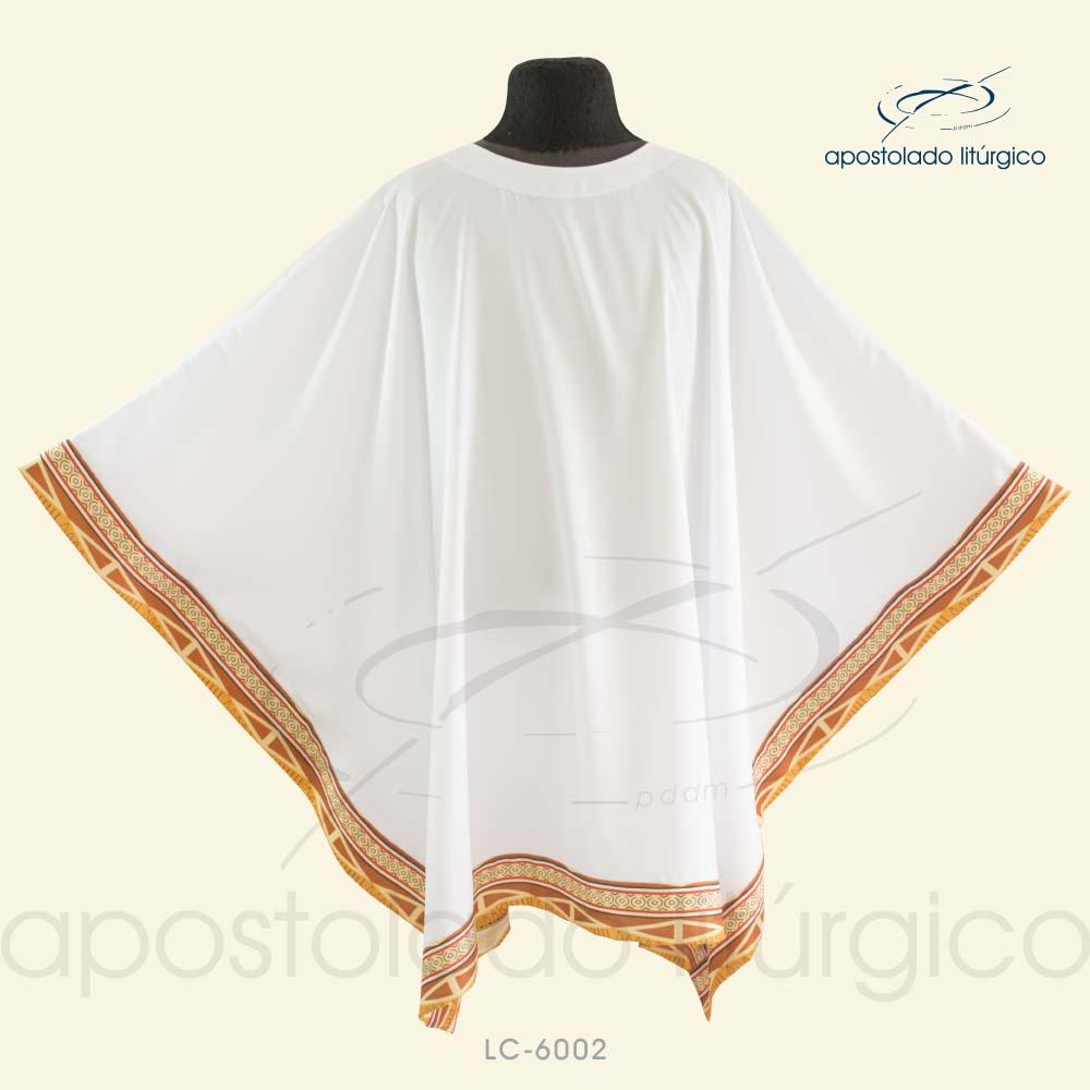 Veste Poncho Aplique 13 Retangular Branca