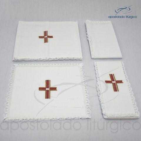 Conjunto de algodão bordado grande número 11 Cruz A Vermelha 50X50 Código 3079-0011