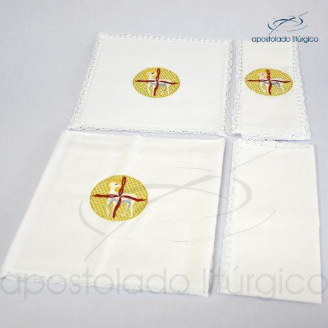 Conjunto de algodão bordado número 19 Cordeiro 50X50 Código 3431-0019-detalhe