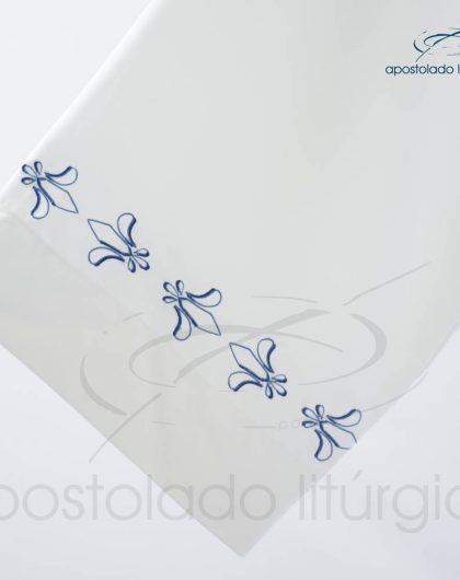 Túnica Pregão Tecido Inteligente Bordado Flor de Lis