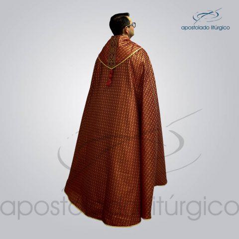 Capa de Bencao Brocado Damasco Galao [Largo N 10 Vermelha] Vermelha Padre Joaquim – COD 3455 Costas